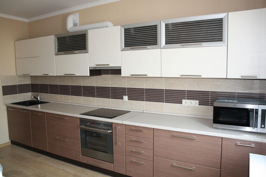 Фото кухонь в двух цветах