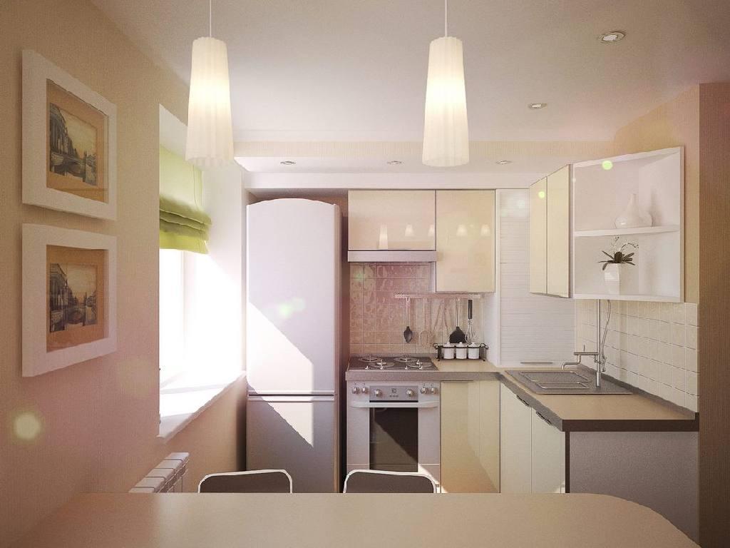 Цвет потолка для маленькой кухни