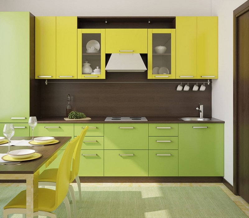 Желтая кухня в интерьере: 50 фото с примерами сочетания цветов в дизайне