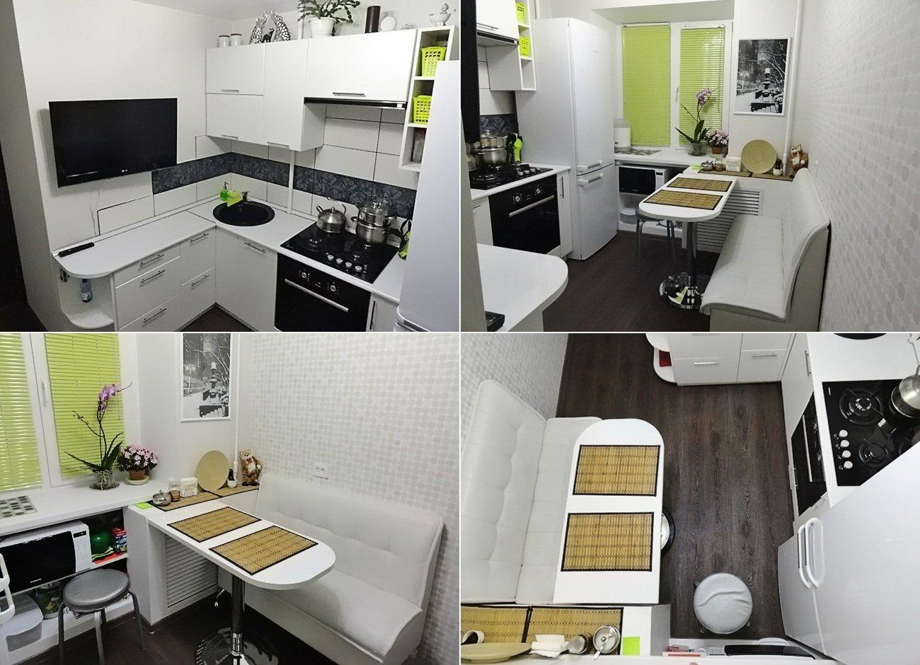 дизайн кухни 6 кв.м в фото