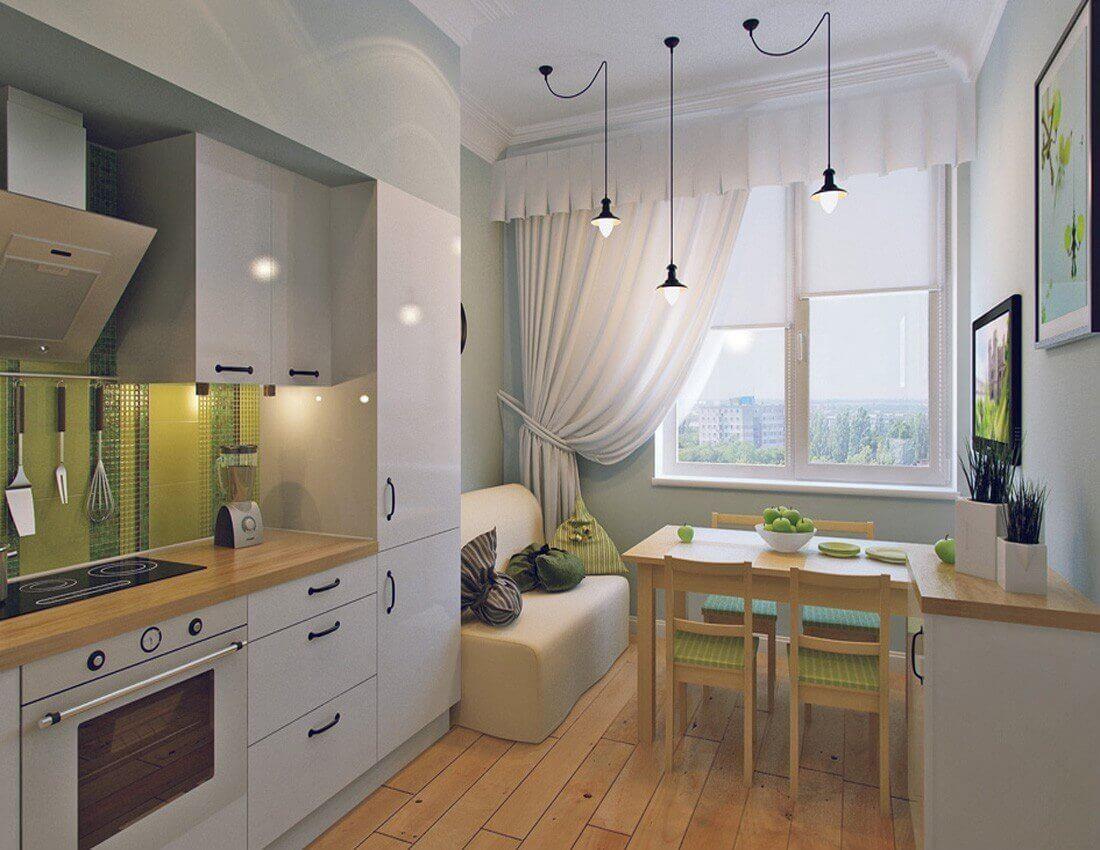 Интерьер на кухне 6 метров 117