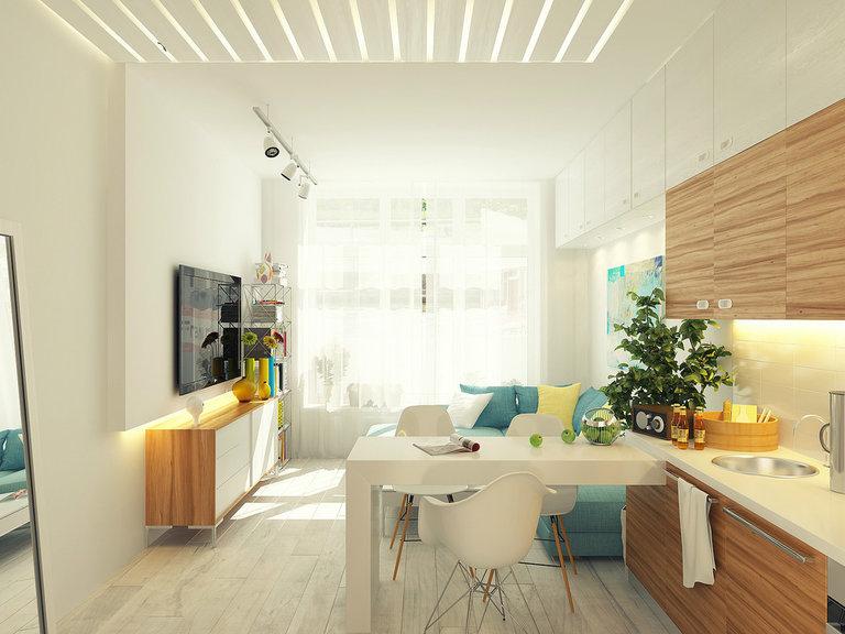 Дизайн гостиной кухни 13 кв м
