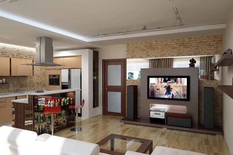 дизайн кухни студии 100 идей оформления интерьера фото