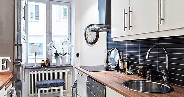 вытяжка на маленькой кухне