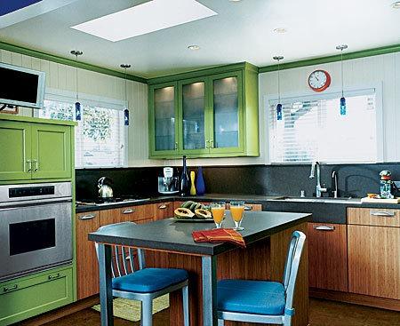 красивый дизайн стандартной кухни 8 м2