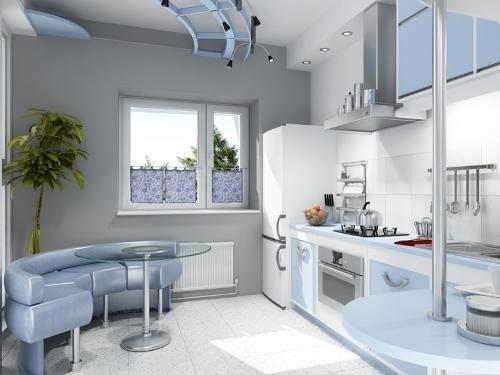кухня11 кв. м с однорядной планировкой
