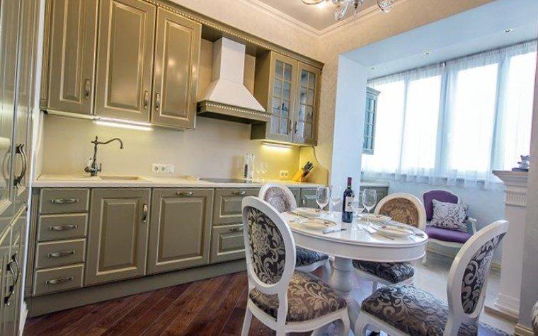 Дизайн кухня, совмещенной с балконом - 77 идей с фото + сове.