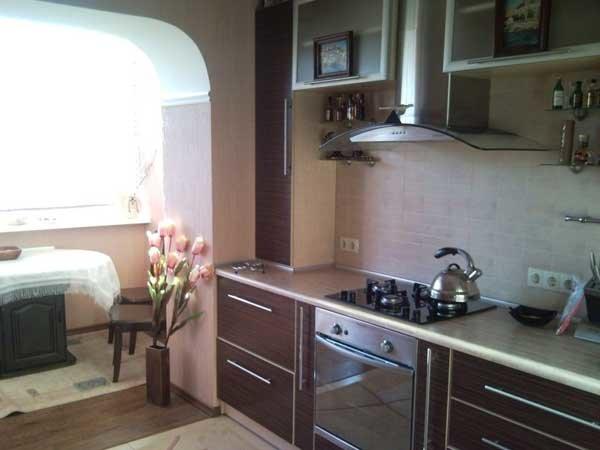 кухня совмещённая с лоджией фото