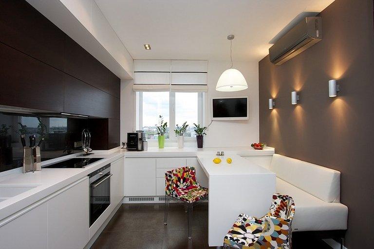 дизайн кухни 13 кв.м. фото