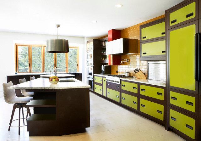 Салатовая кухня фото дизайн