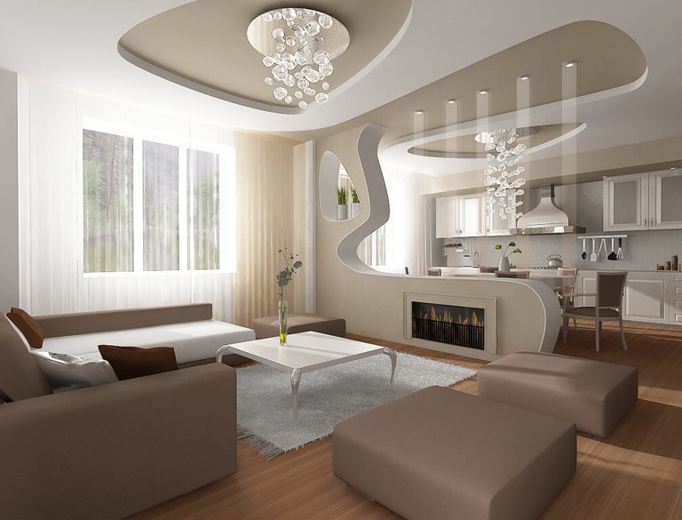 Кухня, совмещенная с залом – Дизайн и фото интерьеров