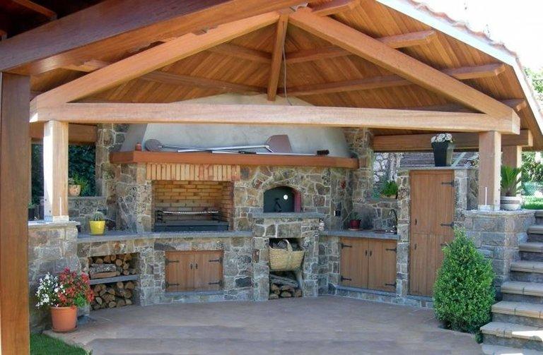 Дизайн летних кухонь фото