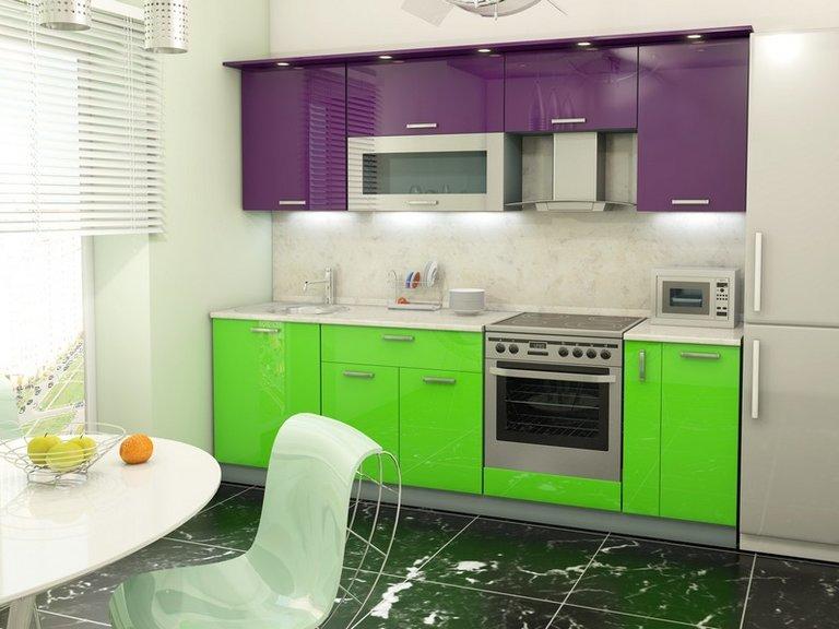 Lila Küche Foto
