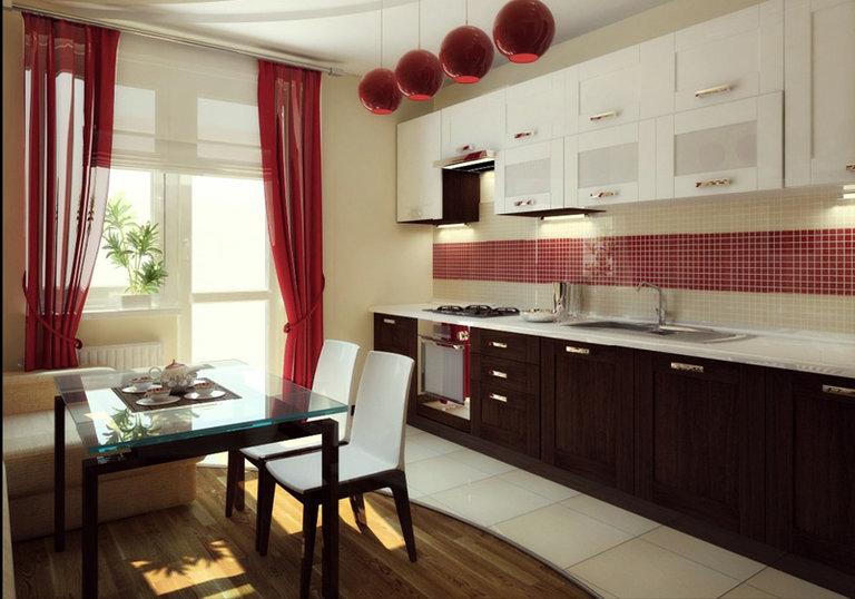 Hässliche Küche vorhänge in die küche mit balkon