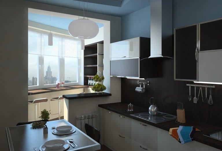 Дизайн кухни 10 кв.м. с диваном