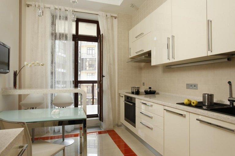 Дизайн кухни 10 кв.м с балконом фото