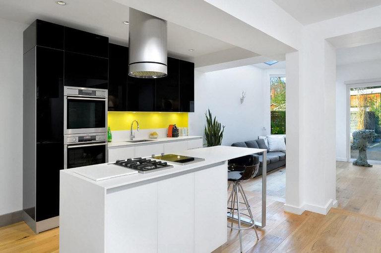 Cocina sala de estar de 25 metros cuadrados de diseño foto