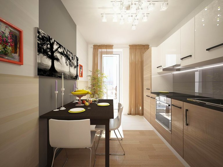 кухни фото 9 дизайн интерьера кв балконом с
