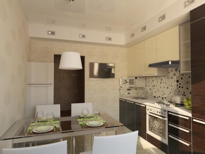 Дизайн кухни на 9 кв.м