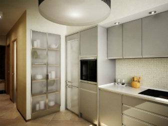 кухня с коридором дизайн фото