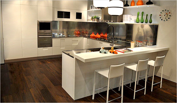 Барный стол на кухне дизайн фото