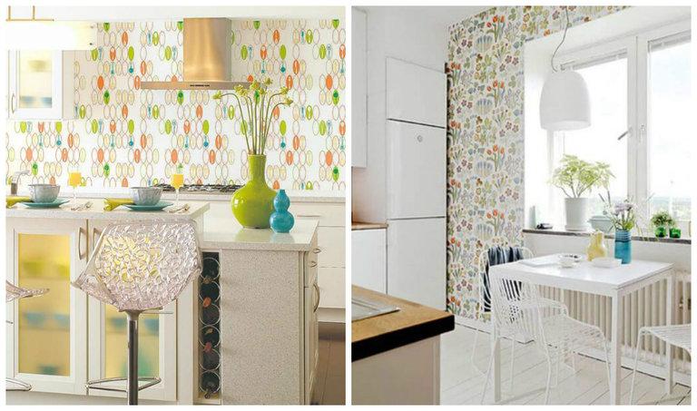 обои для небольшой кухни фото
