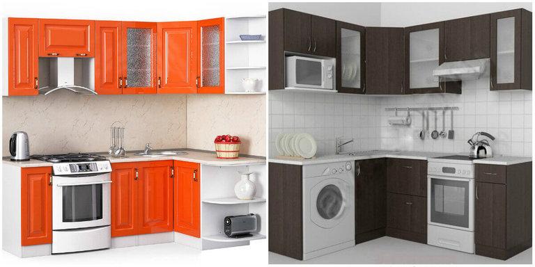 Рисунок угловых кухонных кухни кухни хайтек на заказ