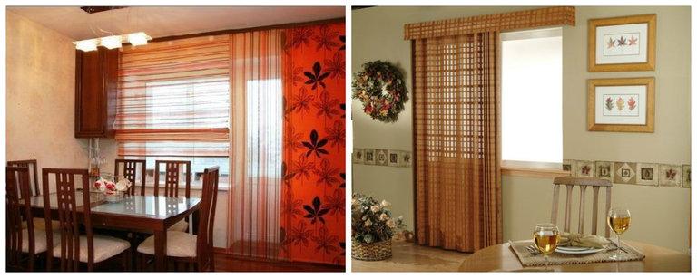 Шторы на кухню с балконной дверью: какие выбрать, фото совре.