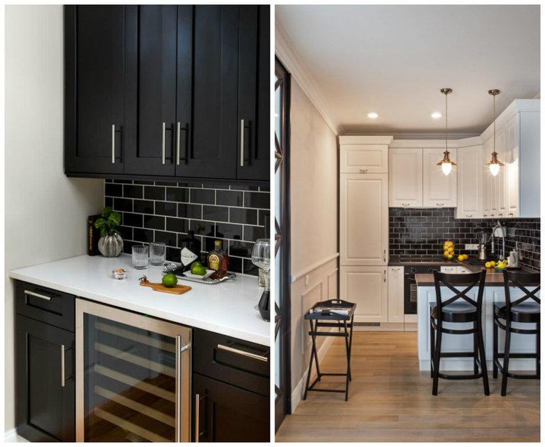 черно белая кухня секреты дизайна 50 фото сочетания черного и белого