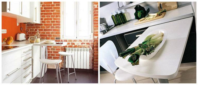 выдвидной стол для маленькой кухни