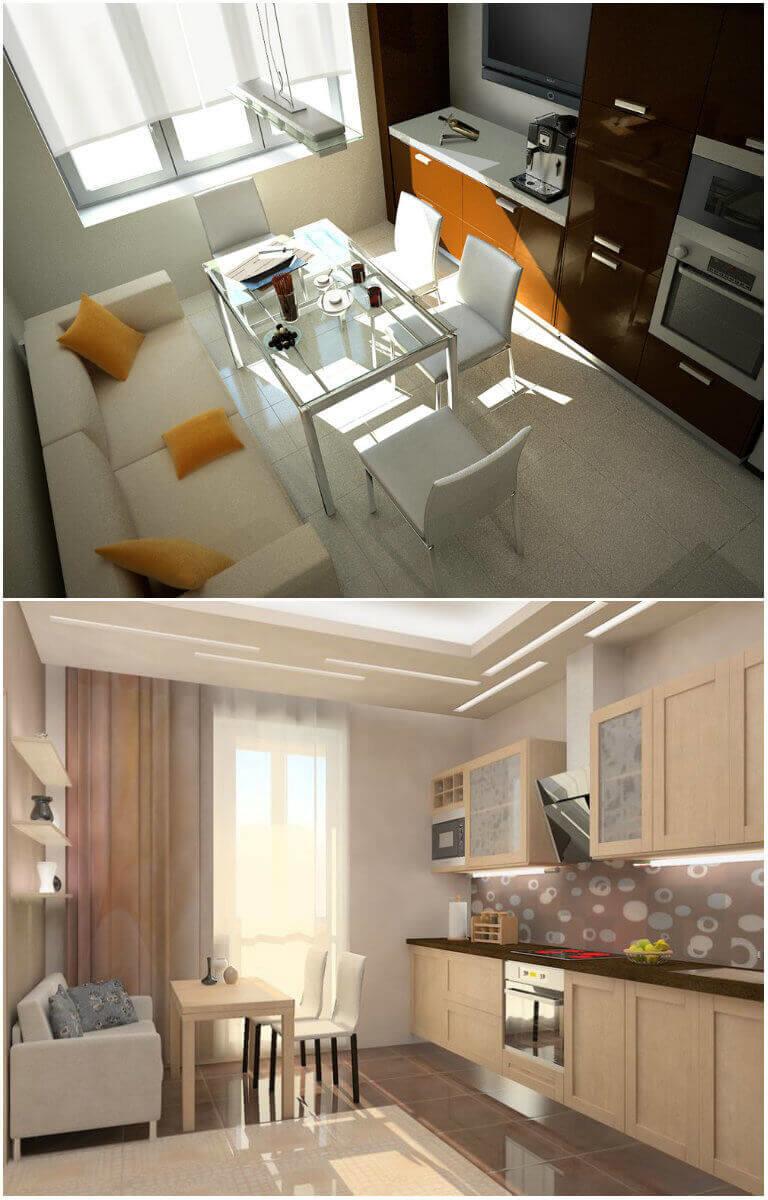 Кухни с диваном фото дизайн