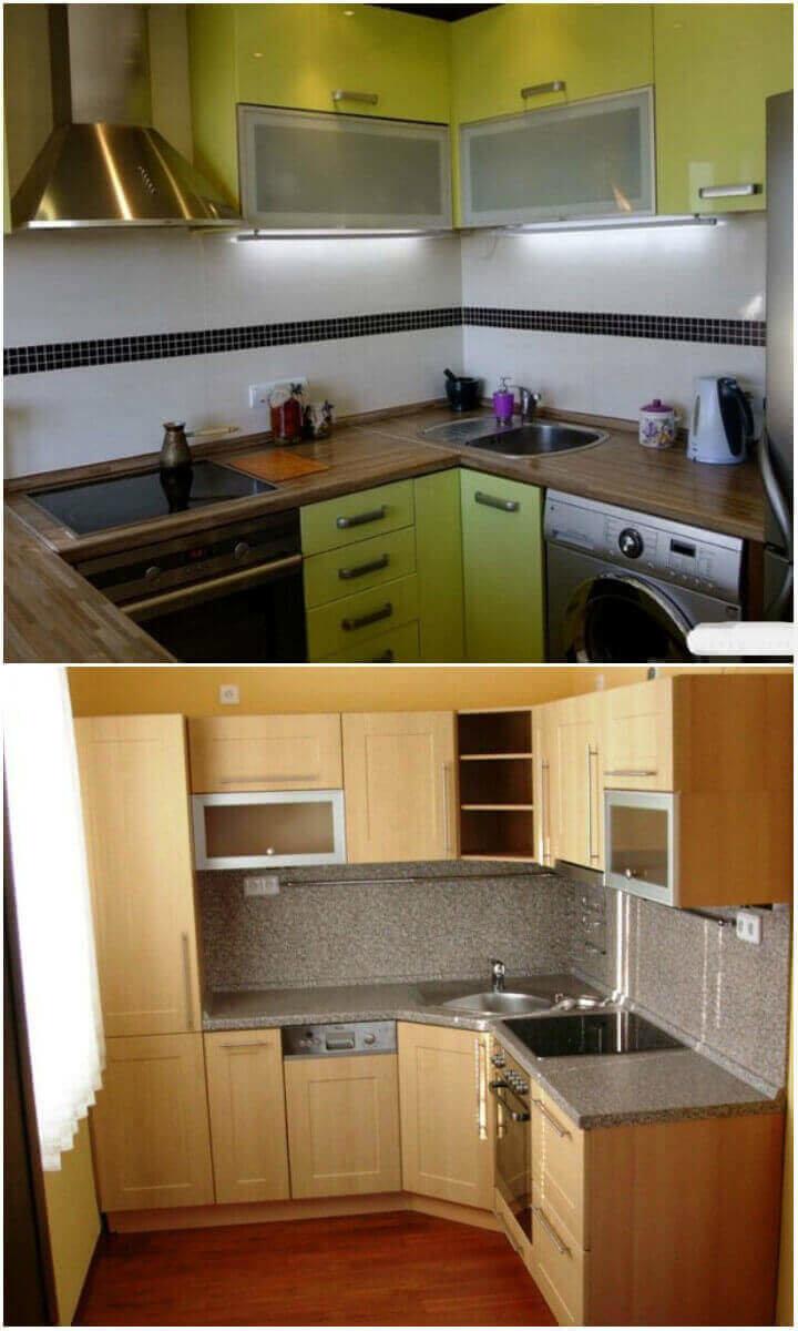 Corner Küche für eine kleine Küche