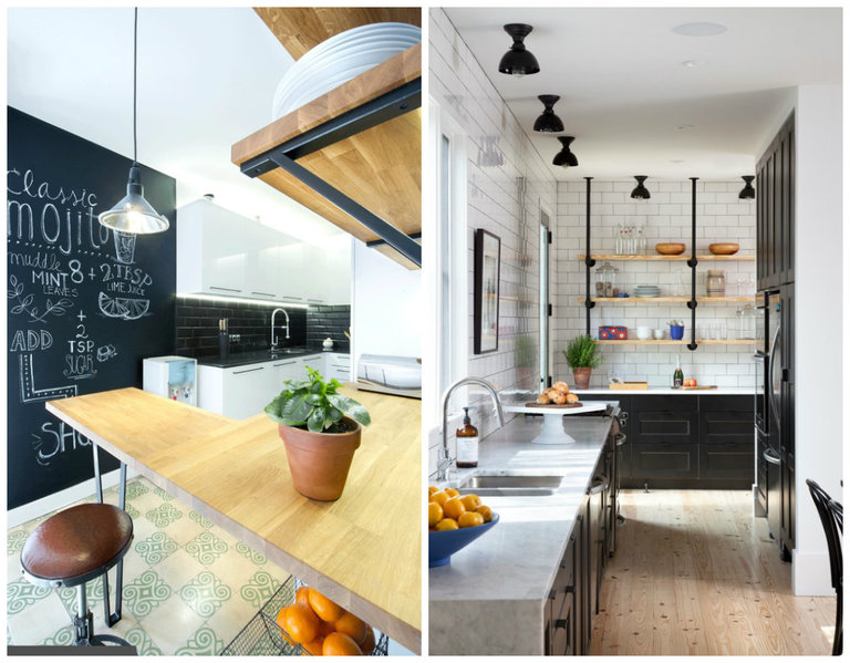 Черно-белая кухня: секреты дизайна 50 фото сочетания черного и белого