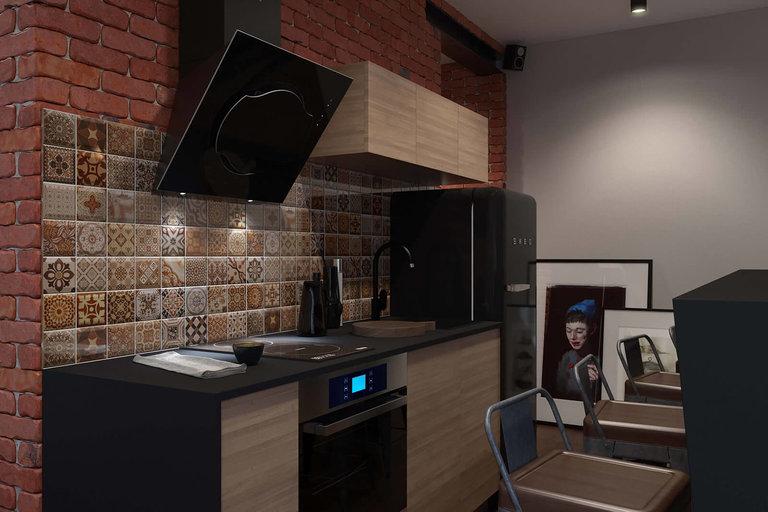 кухня в стиле лофт 100 совмренных идей дизайна фото