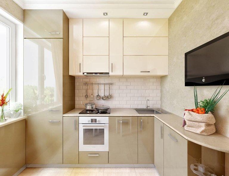 Reparaturen in der Küche auf dem Foto Chruschtschow