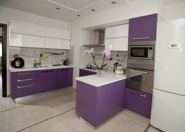 Сиреневые шторы: идеи с фото для кухни, спальни