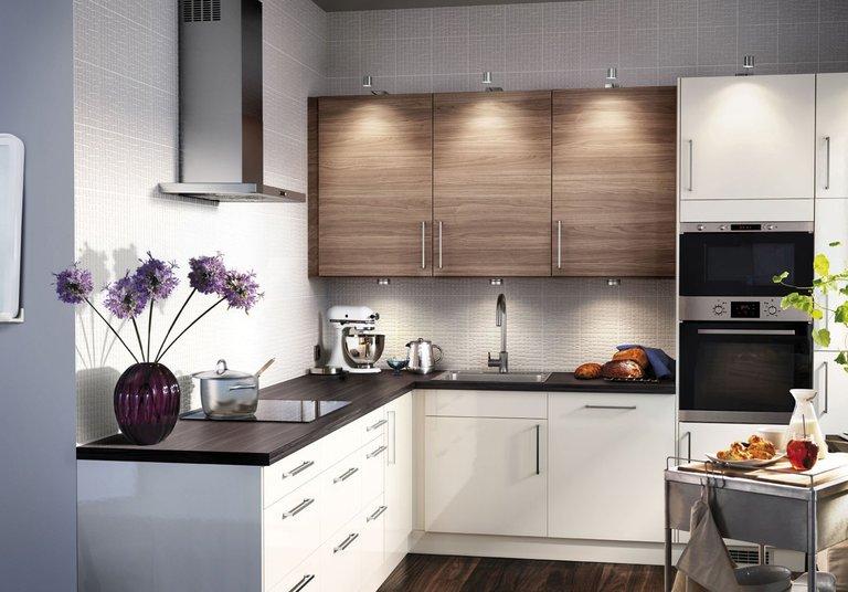 Grau IKEA Küche Interieur Foto