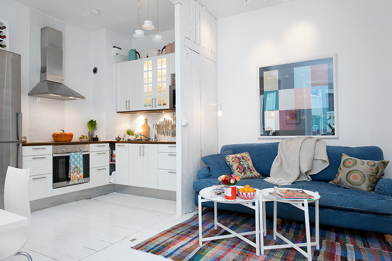 Маленькая кухня-студия: 5 секретов дизайна и фото интерьеров