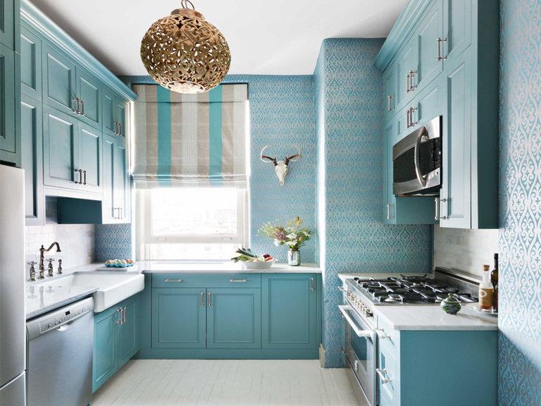 Кухня в голубых тонах: 50 фото интерьеров и советы по дизайну