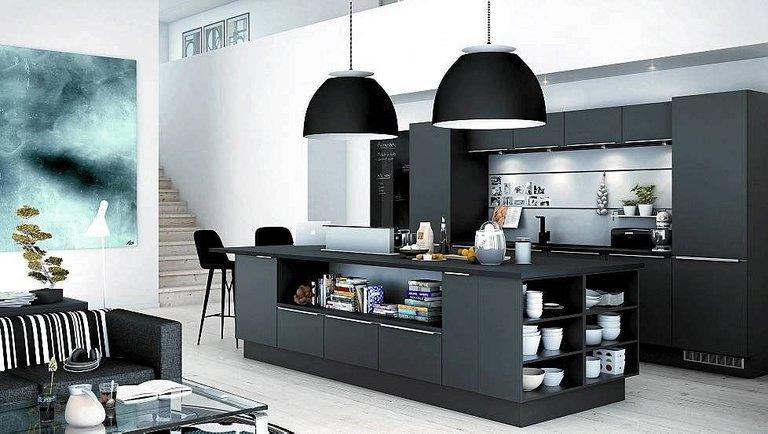 кухни темного цвета фото