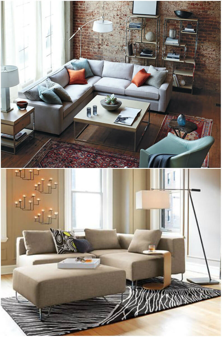 угловой диван в интерьере маленькой гостиной фото популярных моделей