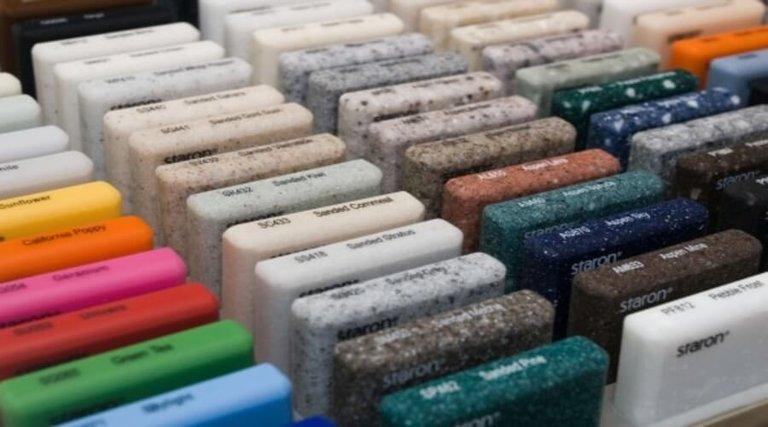 Столешница искусственный камень цвета фото столешница для кухни разновидности