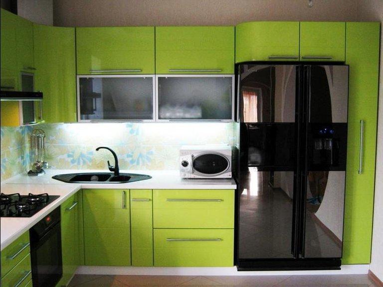 Салатовые кухни фото дизайн