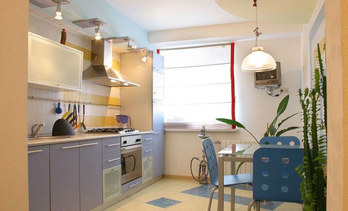 однорядная кухня 14 кв.м