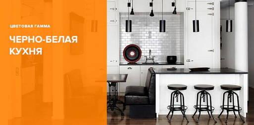 Черно-белая кухня - фото примеры