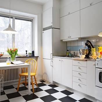 однорядная планировка кухни 13 м2