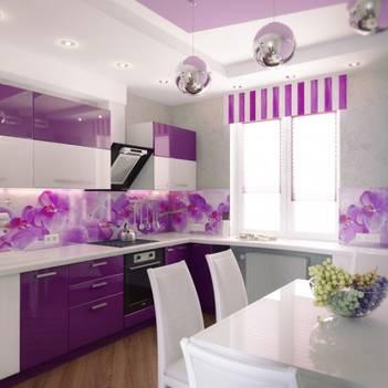фото бежевого цвета кухни фартуки для